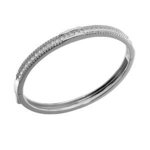 Zilveren armband 925 bezet met zirkonia stenen