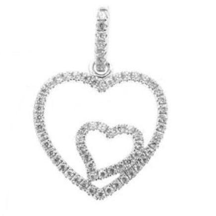 hart in hart bedel zilver incl stenen