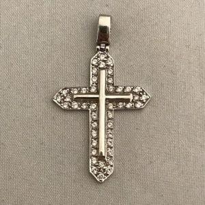 WG kruis met zirkonia's 249eu foto 1