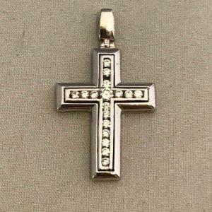 WG kruis met zirkonia's