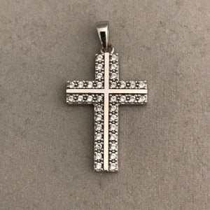 Witgoud Kruis met Zirkonia stenen 275eu