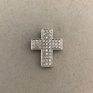 Zilveren Kruis met Zirkonia stenen 39eu