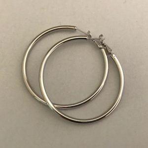Zilveren oorbellen 925 4.7 dia 39eu