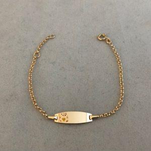 Geelgouden armband met ingegraveerde beertje 14KT 165eu