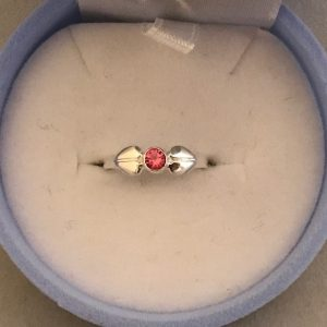 KIDS Fantasie Ring met een Rode steen (925) 12.50