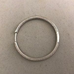 Zilveren Creolen inclusief Zirkonia's