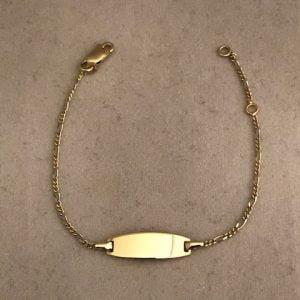KIDS BASIC plaat figaro armband 99eu