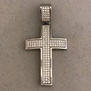 Zilver 925 kruis met zirkonia's