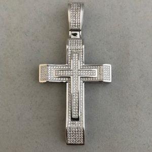 Zilveren kruis inclusief zirkonia stenen 89eu