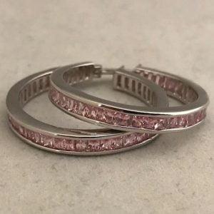 Zilveren ring met Roze Zirkonia's 85eu