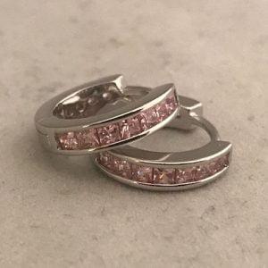 Zilveren ring met Roze Zirkonia's SMALL 19.50eu