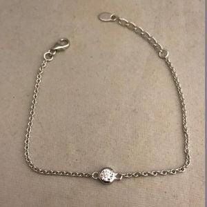 Zilveren armband 925 met één zirkonia