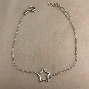 Zilveren armband 925 met een ster bedel