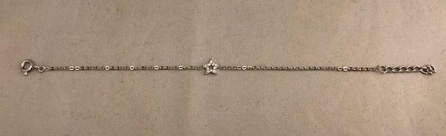 Zilveren armband 925 met een ster bezet met zirkonia's