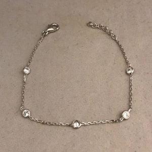 Zilveren armband 925 met vijf zirkonia's 1320718