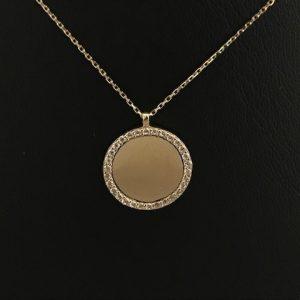 14KT Geelgouden Cirkel Collier omringd met Zirkonia's 40cm SMALL 10mm 185eu