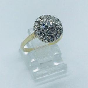 14kt Geelgouden Vintage Entourage Ring - 0,50crt - 849eu