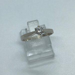 14kt Witgouden Vintage Solitaitre Ring - 0,28crt - 550eu