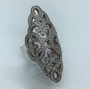 925 Zilveren - Vintage Thomas Sabo Ring - Zirkonia's - 250eu