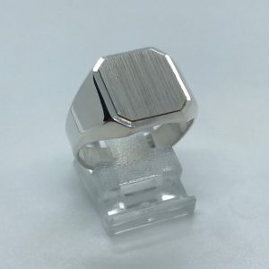 Heren ring zilver met grove ringkop 20.00
