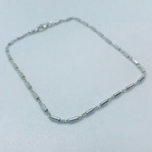 Fantasie zilver enkelbandje 925 balkje 24cm x 2mm 13.16915