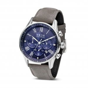 The Boss Leather Blue Grey - 46mm LS33056-03 Grey strap