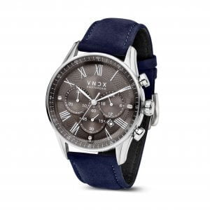 The Boss Leather Grey Blue - 46mm LS33056-16 Blue strap
