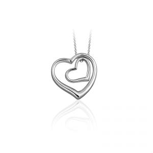 Juwelier Emo - Zilveren Hart Hanger Collier - 01124