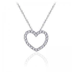 Juwelier Emo - Zilveren Hart Hanger Collier - 01126