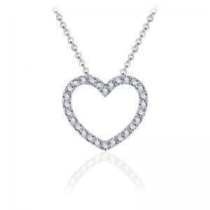 Juwelier Emo - Zilveren Hart Hanger Collier - 01125