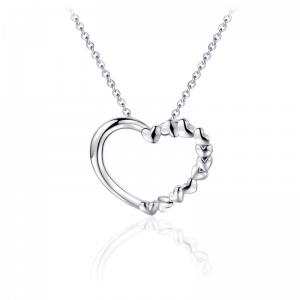 Juwelier Emo - Zilveren Hart Hanger Collier - 01123