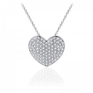 Juwelier Emo - Zilveren Hart Hanger Collier - 01120