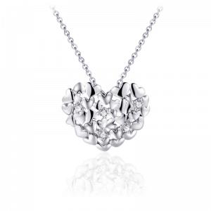 Juwelier Emo - Zilveren Hart Hanger Collier - 01122
