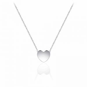 Juwelier Emo - Zilveren Hart Hanger Collier - 01133