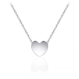 Juwelier Emo - Zilveren Hart Hanger Collier - 01130