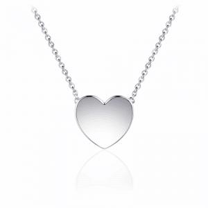 Juwelier Emo - Zilveren Hart Hanger Collier - 01129