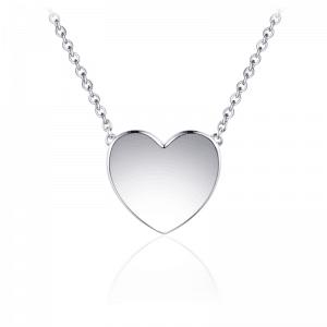Juwelier Emo - Zilveren Hart Hanger Collier - 01128