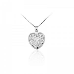 Juwelier Emo - Zilveren Hartbedel Collier - 01116