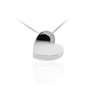 Juwelier Emo - Zilveren Hartbedel Collier - 01113