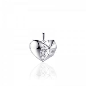 Juwelier Emo - Zilveren Hartbedel Collier - 01114