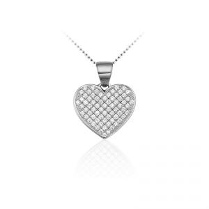 Juwelier Emo - Zilveren Hartbedel Collier - 01118