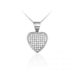Juwelier Emo - Zilveren Hartbedel Collier - 01117
