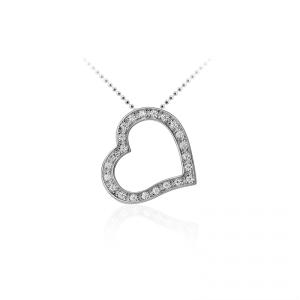 Juwelier Emo - Zilveren Hartbedel Collier - 01119