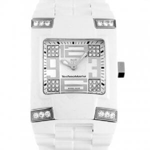 TECHNOMARINE Square Ceramic Diamonds DSQC05C - White Model