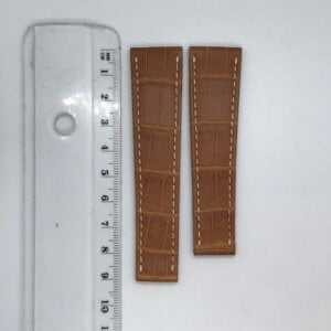 Rolex - 20mm X 16mm Brown Crocodile Watch Strap - Ref A9499XL