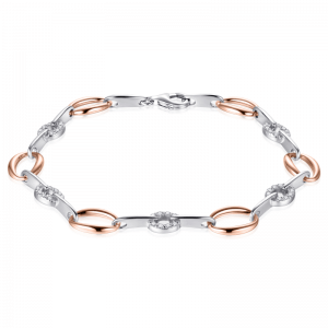 Suzy Style - Fantasie armband Sterling Zilver Rosé - 01468