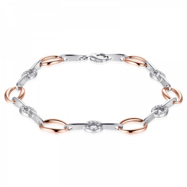 Suzy Style - Fantasie armband Sterling Zilver Rosé - 01468
