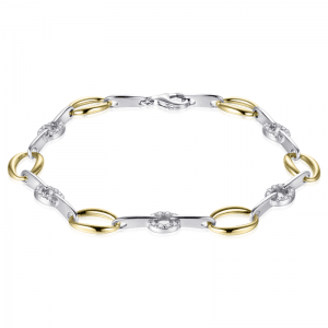 Suzy Style - Fantasie armband Sterling Zilver Geelgoud - 01469