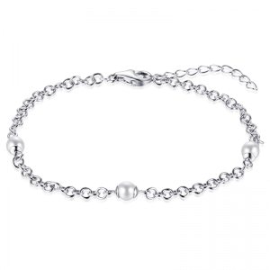 Suzy Style - Jasseron armband Sterling Zilver met Parels - 01471