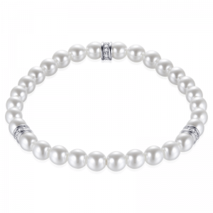Suzy Style - Parel armband met Sterling Zilver - 01472